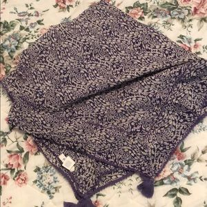 AERIE Purple and White Scarf